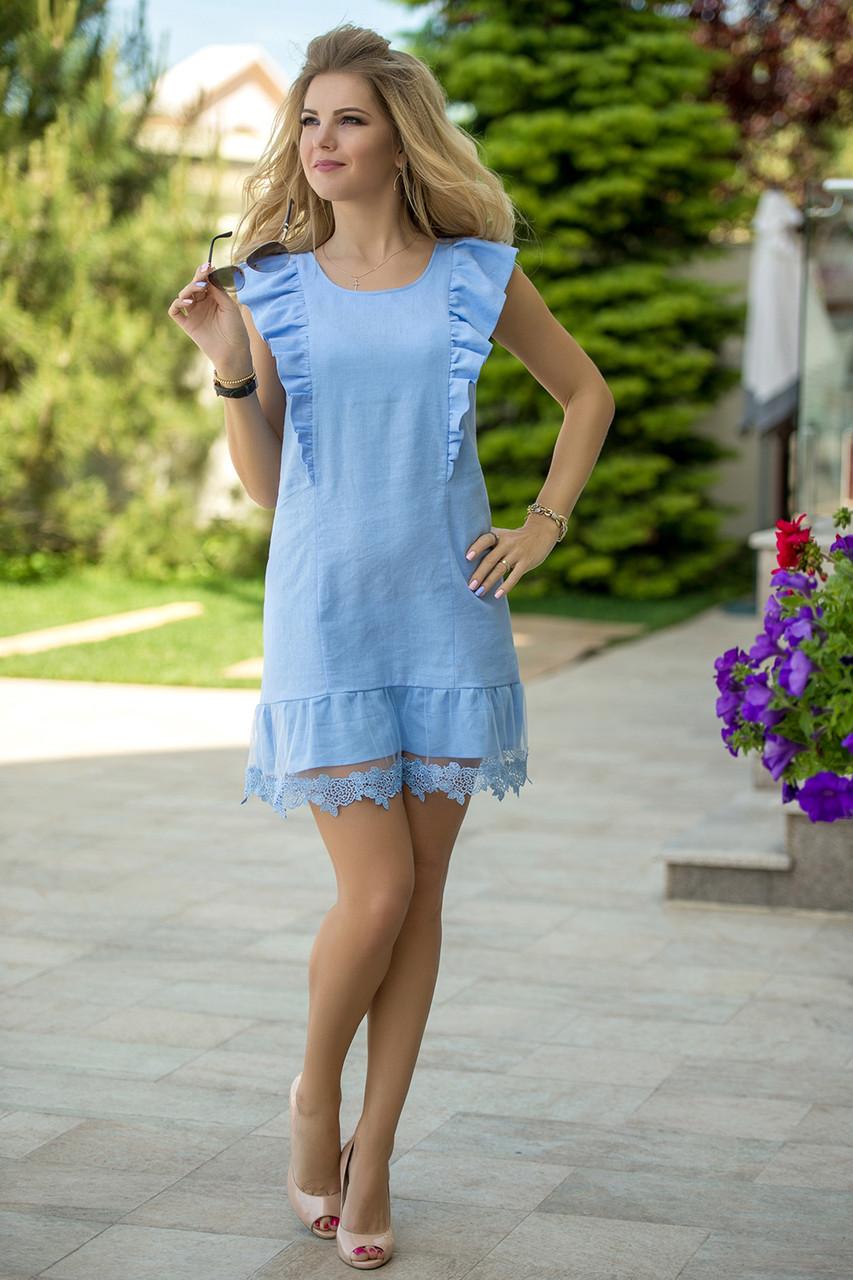 c90da03f9ce Летнее Платье голубой лен - LILIT ODESSA оптово-розничный магазин женской  одежды в Одессе
