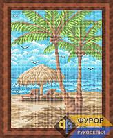 Схема для вышивки бисером - На пляже под зонтиком, Арт. ПБп3-67