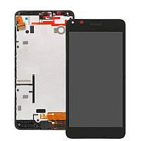 Дисплей + сенсор модуль с рамкой для Microsoft Nokia Lumia 640