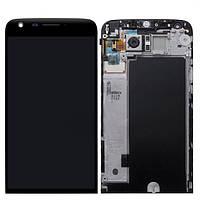 Дисплей сенсор модуль c рамкой для LG G5 H850 h840 H830 h845 ls992 vs987 + ЗАКАЛЕННОЕ СТЕКЛО
