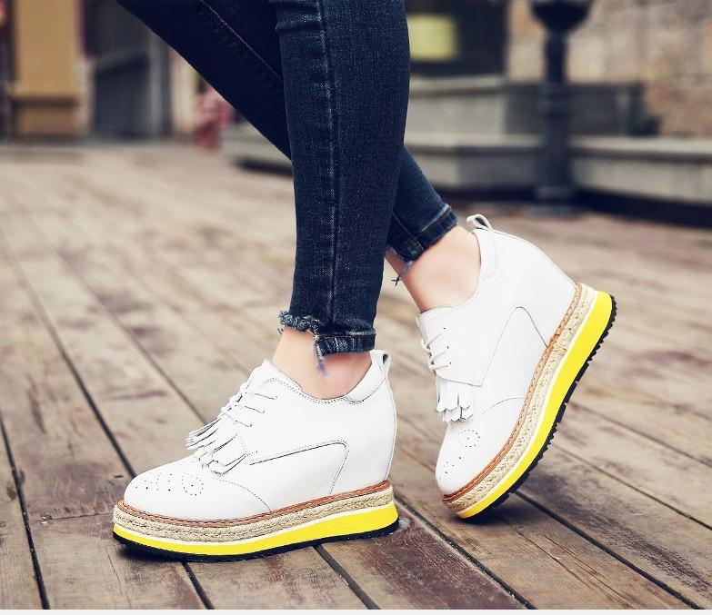 83909a944ab8 Кожаные туфли сникерсы на яркой подошве