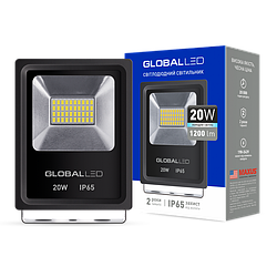 Прожектор LED GLOBAL FLOOD LIGHT 20W 5000K ХОЛОДНЫЙ СВЕТ(1-LFL-002)