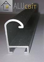 Рамочный  алюминиевый профиль ПАС-1000 20,5х12,7х1,2 анод серебро