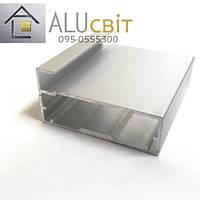 Рамочный фасадный алюминиевый профиль Р 33 анод серебро