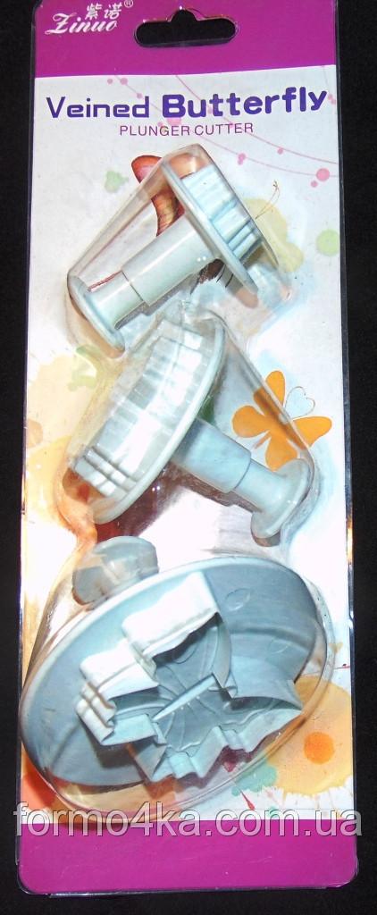 Плунжера для мастики лист троянди 3 шт