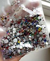 Стразы mix цветные, разные размеры 1440 шт