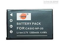 Аккумулятор для фотоаппарата Casio NP-20, 1200 mAh., фото 1
