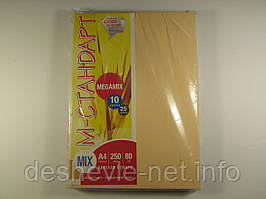 Бумага цветная MIX Megamix А4 250(10х25) листов 80 г/м2