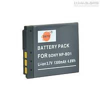Аккумулятор для фотоаппарата Sony NP-BD1, 1300 mAh.