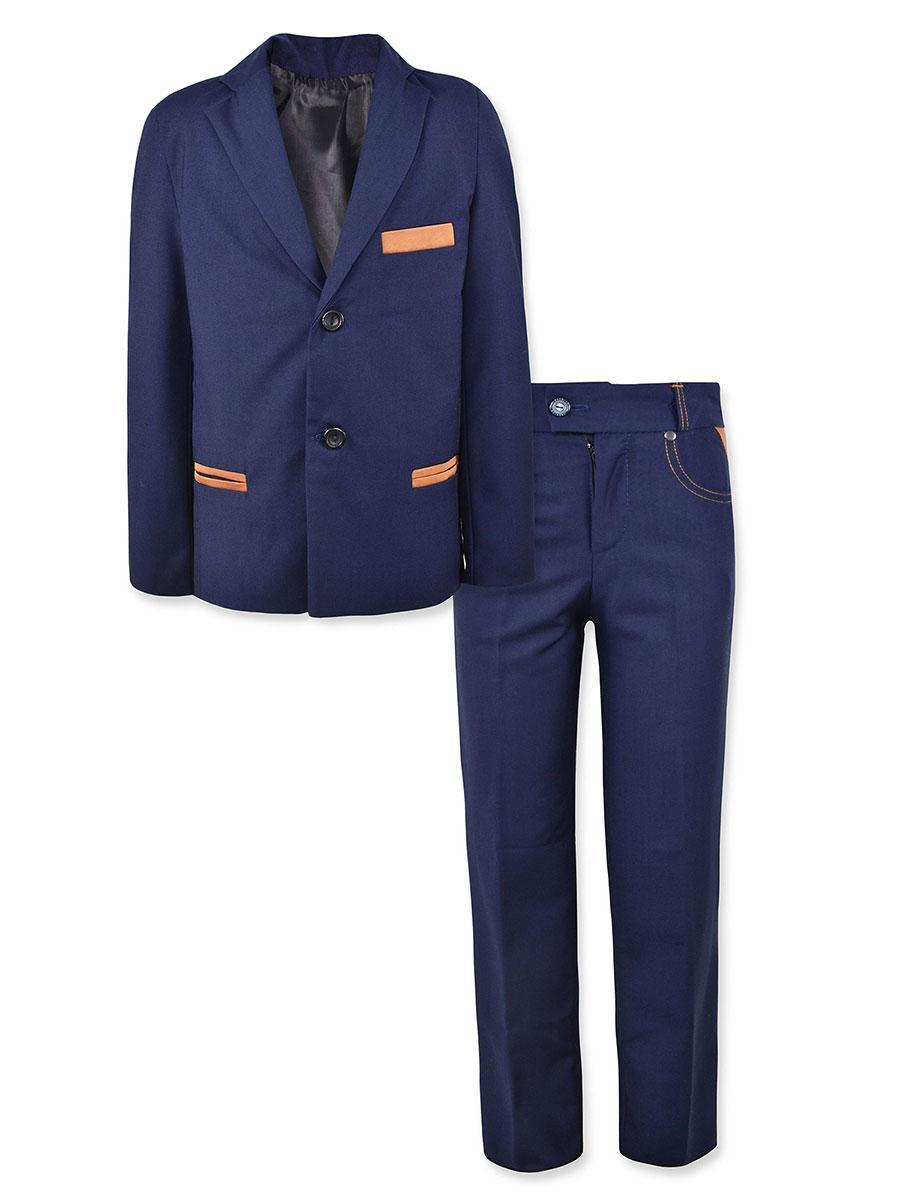 Школьный костюм на мальчика синий, р.134