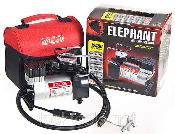 Автомобильный компрессор ELEPHANT КА-12400 100psi/12Amp/30л/прикур., фото 2