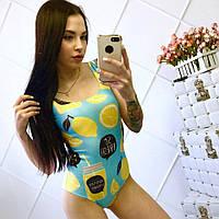 Слитный купальник с лимоном