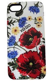 Чехол в стиле KENZO для iPhone 5/5S, Flower (силиконовый)