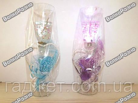 Свеча гелевая, бокал 23 см светящаяся./ Свеча С Диодами, фото 2