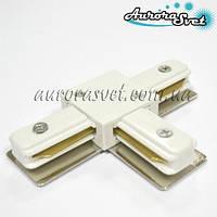 З'єднувач трикутний для шинопровода трекового світильника (білий/чорний)