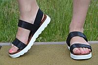 Босоножки, сандали женские на платформе черный перламутр искусственная кожа 2017. Топ