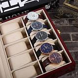 Шкатулка для хранения часов деревянная на 10 ячеек Rothenschild, фото 7