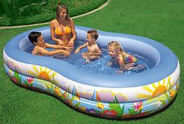 Бассейн детский надувной Райская Лагуна Intex 56490 (262х160х46 см.)
