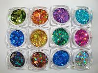 Дизайн ногтей - блестки, песок для ногтей, фото 1