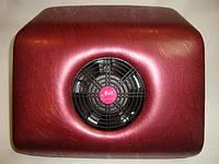 Настольная вытяжка-пылесос для маникюра, бордовая