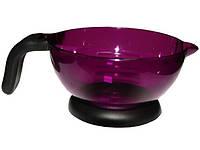 Емкость для краски волос DenIC - фиолетовая с ручкой