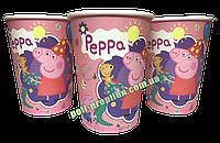 Стакан детский праздничный одноразовый Свинка Пеппа (упаковка 10шт.)