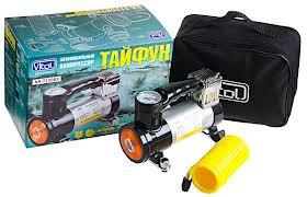"Авто компрессор ""Тайфун""  КА-Т12082 100psi/12Amp/35л/прикур./фонарь/шланг 2,0м"