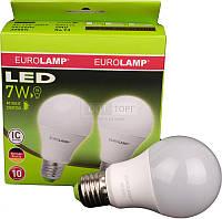 """EUROLAMP  Промо-набор EUROLAMP Светодиодная лампа LED ЕКО серия """"Е"""" A60 7W E27 3000K акция 1+1 (50)"""