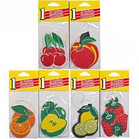 Освежитель воздуха бумажный, фрукты (арт.168-60-2)