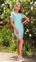 Ажурное платье ментолового цвета