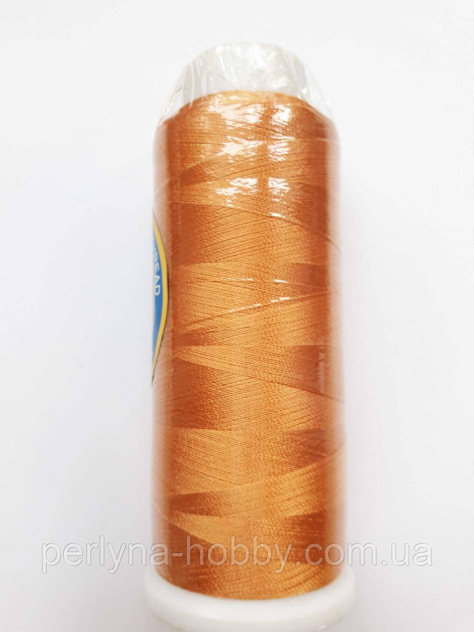 Нитки для машинної вишивки 100% віскоза(100% rayon) 3000 ярдів, №163, золотисто-оранжевий