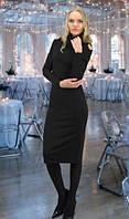 Черное облегающее платье из трикотажа