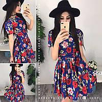Платье летнее с пышной юбкой 0547-2