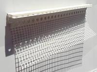 Профиль примыкания оконного отлива с сеткой длиной 2,0 метра