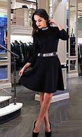 Черное платье из дайвинга Д-284