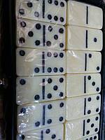 Домино в PVC футляре (настольная игра)  (кости-пластик, h-3,8см, р-р футляра 15*8,5*1,5см)