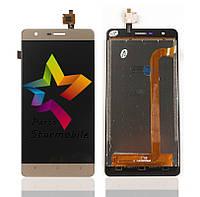 Дисплей для мобильного телефона Oukitel K4000 Lite, золотой, с тачскрином, ORIG