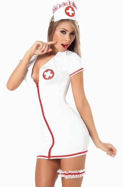 Костюм медсестры с подвязкой