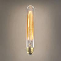 Лампа Эдисона E27 T30 225mm 40W 2700K Amber