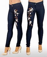 """Узкие брюки с вышивкой """"Джинс"""".  Разные цвета."""