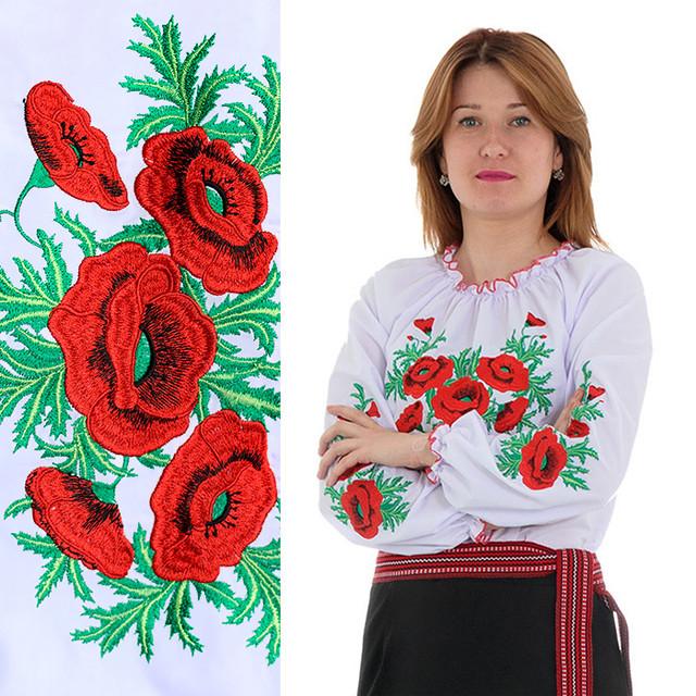 Вышиванки женские блузы с маками Соломия