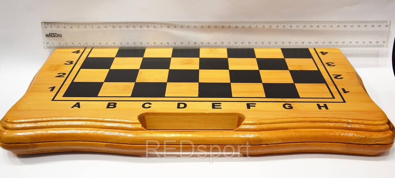 Шахматы, шашки, нарды набор настольных игр бб002 (доска-бамбук,фигурки-дерево, р-р доски 42x42см) - REDsport в Харькове