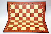 Доска картонная для игры в шахматы, шашки. Цвет: коричневый. Размер 33 х 33 см.