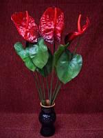 Цветы искусственные Антуриум (цвет красный)