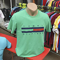 Мужская летняя футболка 2017 - Tommy Hilfiger (зеленая) - 147-1