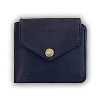Кожаное портмоне 4.2 (4 кармана, кнопка) Ночное небо, фото 1