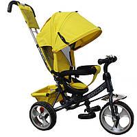 *Детский трёхколёсный велосипед Tilly Trike колеса на пене (Yellow/Grey) арт. 343