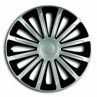 Колпаки R14 на диски R14 серо / черные SL/BK Супер Сильвер колпак K0132