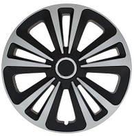 Колпаки R14 на диски R14 серо / черные SL/BK микс колпак K0133