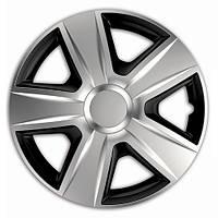 Колпаки на колеса диски для дисков R14 серо / черные SL/BK сильвер блэк колпак K0136